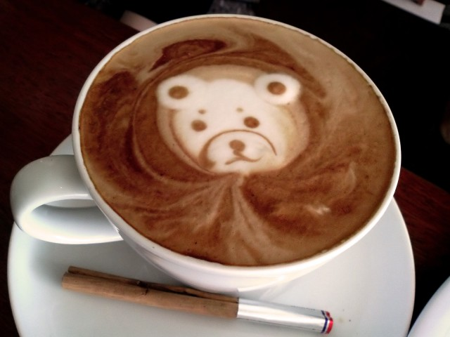 Coffee with the old Bear