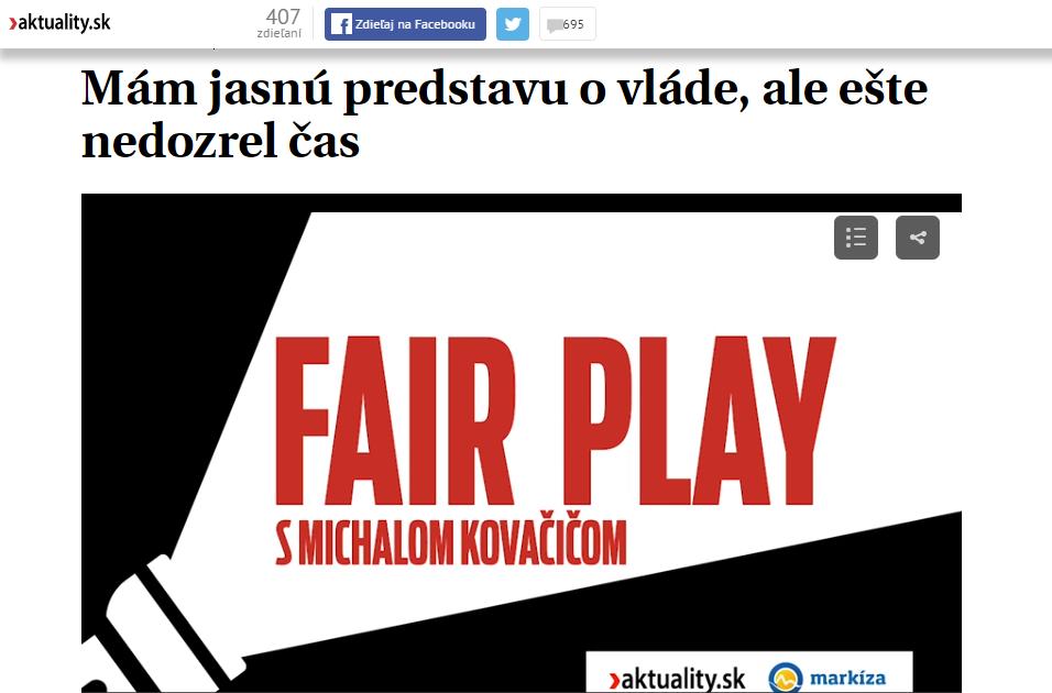 fair play s michalom kovačičom aktuality a markiza